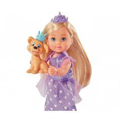 Лялька Еві принцеса з улюбленцем, фіолетова сукня, Evi Love 105736260