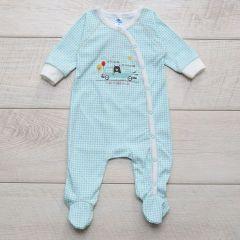 Трикотажний чоловічок для дитини (бірюзовий), MINIKIN 205703