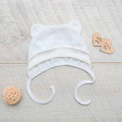 Трикотажна шапочка для малюка (молочна) від Minikin, 2013501