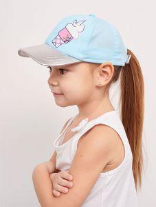 """Модна кепка для дівчинки """"Лаура"""" 20.03.034 (блакитна)"""