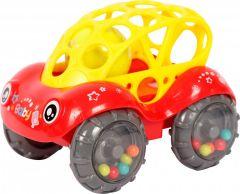 Іграшка-брязкальце, Авто, червона Lindo Б 339