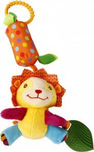 """М'яка іграшка-брязкальце з прорізувачем """"Лев"""", Lindo F 1001"""