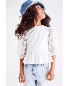 Трикотажна блуза для дівчинки