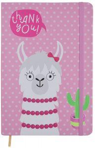 Блокнот на резинке А5 Веселая лама (розовый), Malevaro NC5039