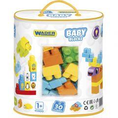 """Конструктор Baby Blocks """"Мои первые кубики"""" (30 эл.), Wader 41400 (в сумке)"""
