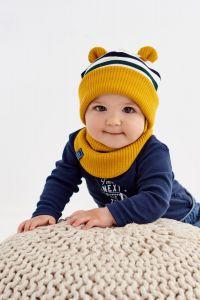 "Набір ""Майкл"" для хлопчика, (шапочка і хомут), 20.04.020"
