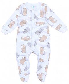 """Трикотажний чоловічок для малюка """"Ведмедики"""" , Minikin 207003"""