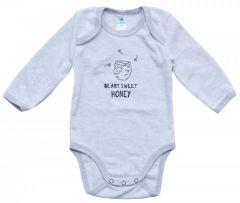 Трикотажне боді для дитини (сірий меланж), Minikin 207103