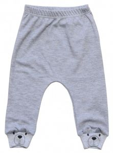 Трикотажные штанишки для ребенка (серый меланж), Minikin 207203