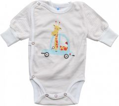 Трикотажная боди-распашонка для мальчика (машинки), 205403