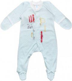 Трикотажний чоловічок для малюка (бірюзовий), MINIKIN 205603