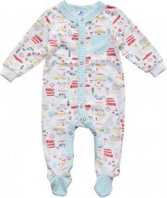 Трикотажний чоловічок для малюка (бірюзовий), MINIKIN 205803