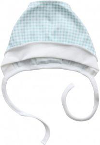 Трикотажная шапочка на завязках (бирюзовая), Minikin 205003