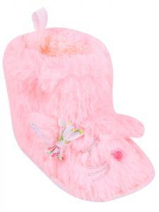Пінетки-чобітки для дівчинки, рожевий неон YOclub OB-033