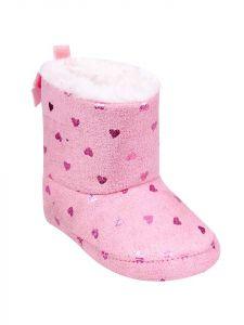 Пінетки-чобітки для дівчинки рожеві, YOClub OB-080