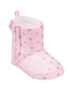 Пінетки-чобітки для дівчинки, світло-рожеві, YOClub OB-080