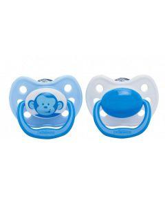 Ортодонтичні пустушки (0-6 міс.) 2шт, Dr. Brown's 964-SPX (мавпочка)