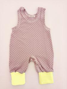 Трикотажний комбінезон-повзунки для дитини (фіолетово-жовтий), 1232 Mokkibym