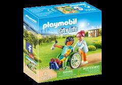 """Конструктор """"Пацієнт в інвалідному кріслі"""", Playmobil 70193"""