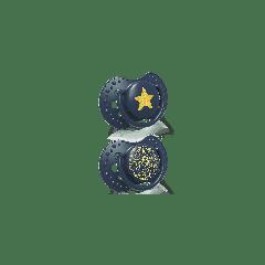 Силіконові динамічні пустушки Stardust  (0-3 міс) 2 шт. синя, Lovi 22/892