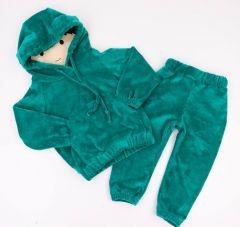 Велюровий костюм для дитини (смарагдовий), Coolton