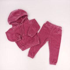 Велюровий костюм для дівчинки (темно-рожевий), Coolton