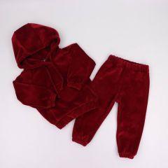 Велюровий костюм для дитини (вишневий), Coolton