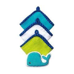 Комплект з 3-х рукавичок для купання + губка велюр (кит), 143 BabyOno