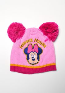 """Шапка """"Minnie Mouse"""" для дівчинки, рожева, D-40789"""