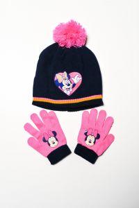 """Набір """"Minnie Mouse"""" для дівчинки, синій (шапочка і рукавички), D-40789"""