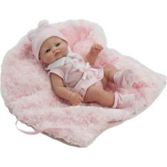 Лялька вінілова новонароджена з пледом (27 см), 2504R, Berbesa