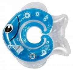 """Надувний круг для купання """"Рибка"""" (синій), Lindo LN 1565"""