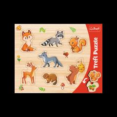"""Пазли рамкові """"Лісові звірі"""", Trefl 31307"""