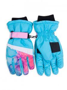 Теплі рукавиці (голубі з рожевим) YoClub RN-107