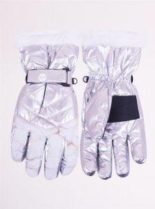 Теплі рукавиці (сріблясті), YoClub RN-113