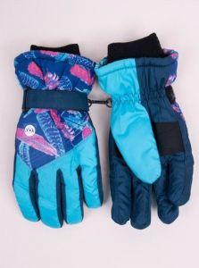 Теплі рукавиці (голубі з синім) YoClub RN-116