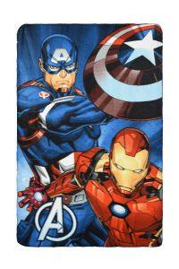 """Флісовий плед """"Avengers"""", RH4181 (синій)"""