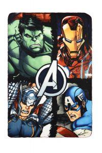 """Флісовий плед """"Avengers"""", RH4181 (зелений)"""