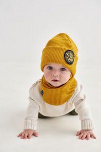 """Набір """"Райлі"""" для хлопчика, гірчичний (шапка та хомут), 20.04.025"""