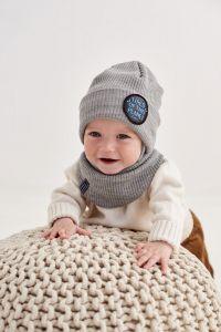 "Набір ""Райлі"" для хлопчика (шапка та хомут), 20.04.025"