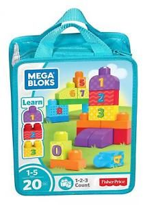 "Набор конструктора ""First Builder"", Mega Bloks Fisher-Price (ментоловый), DLH85/CNH08"
