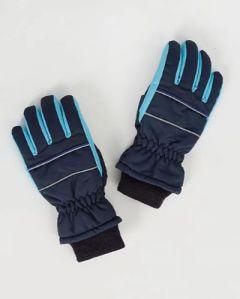 Теплые перчатки, голубые