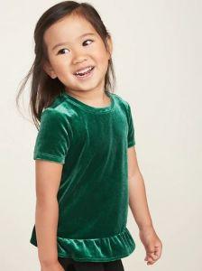 Блуза з велюру для дівчинки