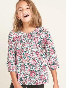 Блуза с принтом для девочки