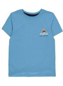 Трикотажная футболка для мальчика (голубая)