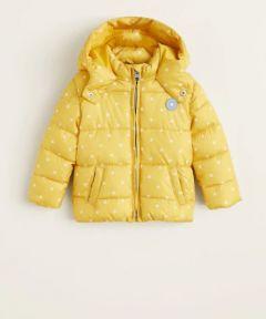 Куртка з флісовою підкладкою всередині для дівчинки