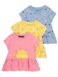 Набор футболок для девочки (3 шт.)