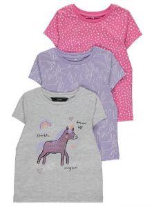 Набор красивых футболок для девочки (3 шт.)