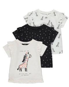Набор футболок 3 шт. для девочки