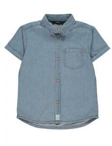 Джинсова сорочка з коротким рукавчиком для хлопчика